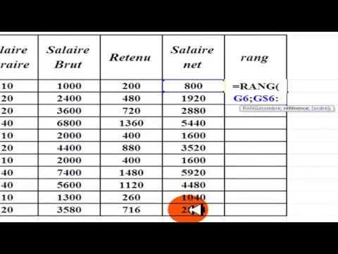 نسخة عن Calcul Excelle 2010 Salaire Brut Retenu Salaire Net Rang