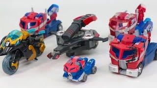 Transformers Animated Optimus Prime Megatron Samurai Prowl Vehicle Transformation Robot Car Toys