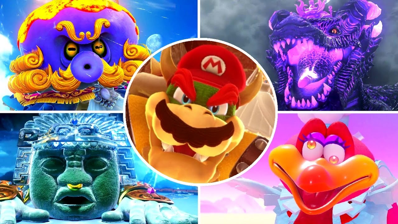 Super Mario Odyssey All Secret Painting Bosses Boss Rematches