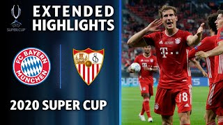 FC Bayern Munich vs Sevilla | 2020 Super Cup Extended Highlights | UCL on CBS