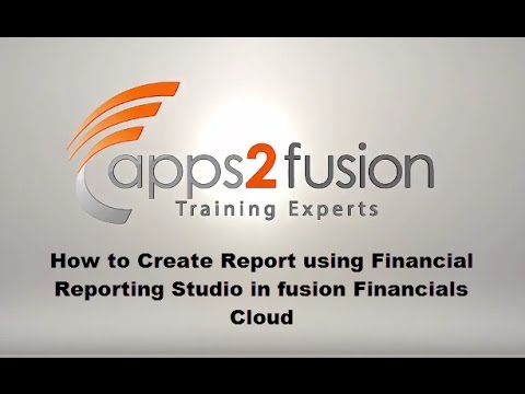 How to Create Report using Financial Reporting Studio in Fus