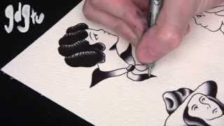Video How To Paint Old School Tattoo Flash Pin-Up Designs Tutorial download MP3, 3GP, MP4, WEBM, AVI, FLV Juni 2018