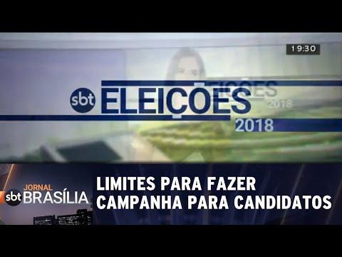 Os limites da população para fazer campanha para candidatos | Jornal SBT Brasília 30/08/2018