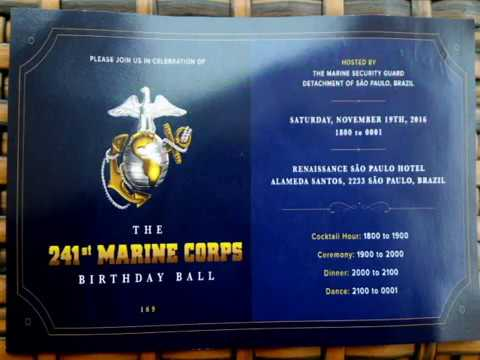 Marine Corps 241th Birthday Celebration 2016 Sao Paulo Brazil