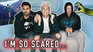 FACING OUR BIGGEST FEARS! THIS was in his BACKYARD... (Scary)