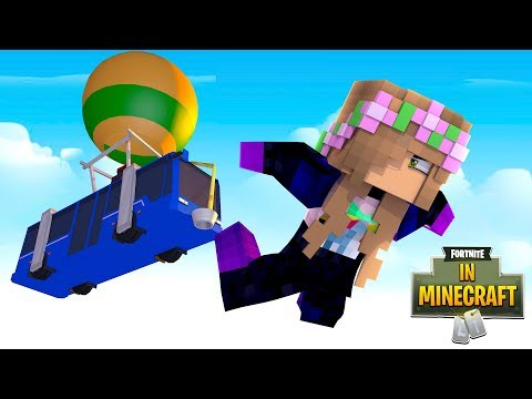 SUCKED INTO FORTNITE FROM MINECRAFT?! | Minecraft Fortnite In Minecraft | Little Kelly thumbnail