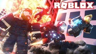 TEAM THANOS VS EQUIPOS DE 4 PERSONAS! 💥 Roblox 4 Player Superhero tycoon