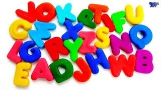 Abecedario en Español para Niños  Huevos Sorpresa Play Doh Aprende los colores