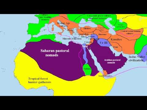 World map 2000 BC