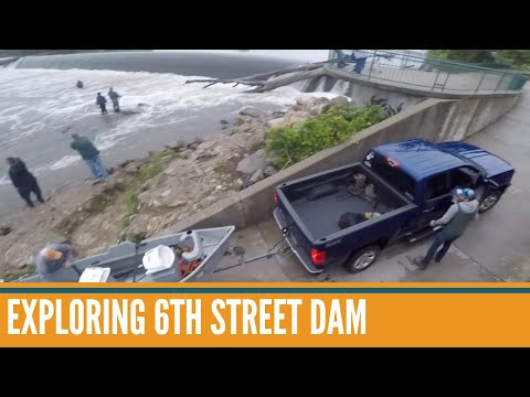 6th Street Dam Grand River Visual Tour // Grand River Michigan Fishing