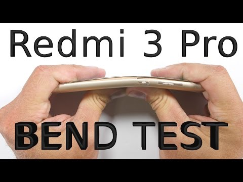 Xiaomi Redmi 3 Pro - Bend test, Scratch test, Burn test - Durability video