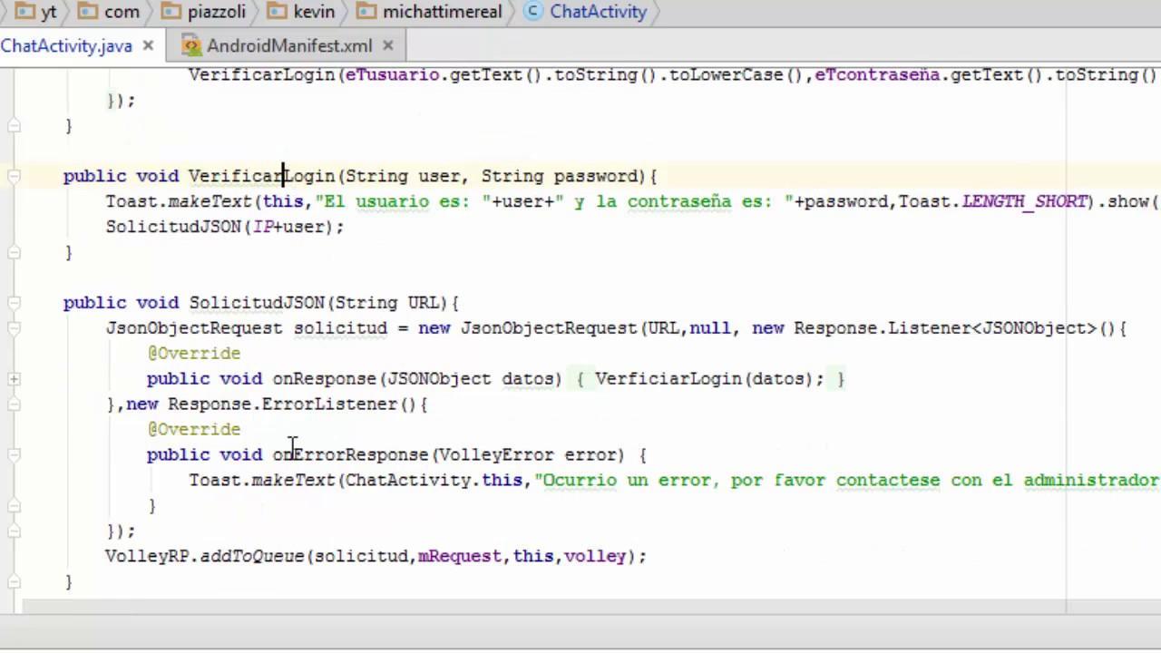 09 Formato Json Sistema De Chat Avanzado En Tiempo Real Android Studio