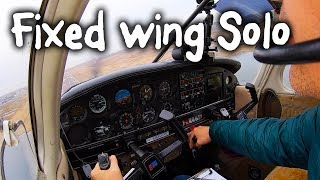 My first solo flight in a fixed wing aircraft