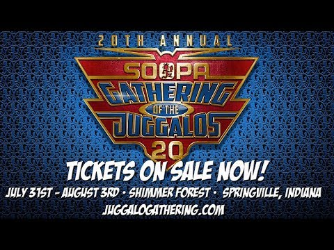 20th Annual Gathering of the Juggalos Tickets Available Now!