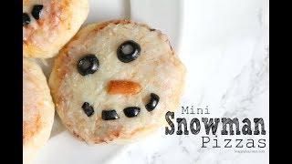 Snowman Pizza Square