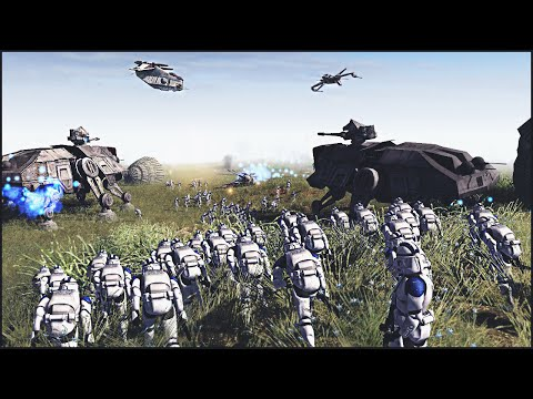 CLONES ENGAGE DROIDS ON NABOO – Star Wars: Galaxy at War Mod Gameplay