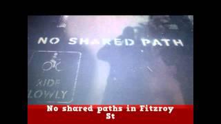 Sydney City Council : no shared pedestrian cyclists paths!