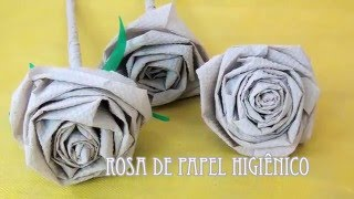 Rosa de Papel Higiênico por Flores e Flores