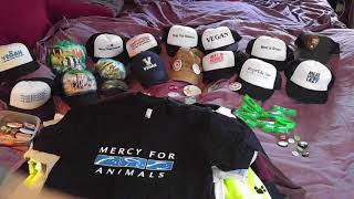 VEGAN + Animal Rights Gear Swag (SHIRTS Hoodies Hats Buttons Bumper Stickers Pins) Amazon PETA