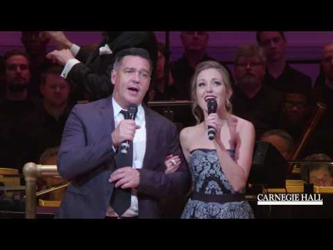 "Nathan Gunn and Laura Osnes Sing ""Almost Like Being in Love"" with The New York Pops"