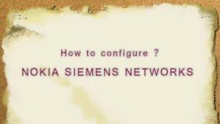 How to configure NOKIA SIEMENS NETWORKS  ADSL WiFimodem