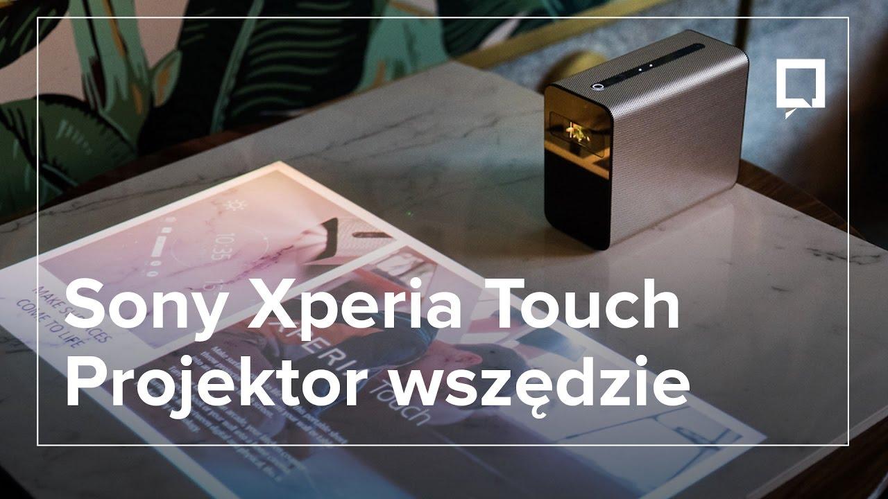 Projektor Sony Xperia TOUCH, czyli dotykowy ekran na każdej powierzchni