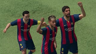 PES 2015 Demo Gameplay (PS4): FC Barcelona vs Real Madrid