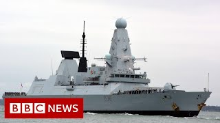Russia says it fired warning shots at British warship - BBC News