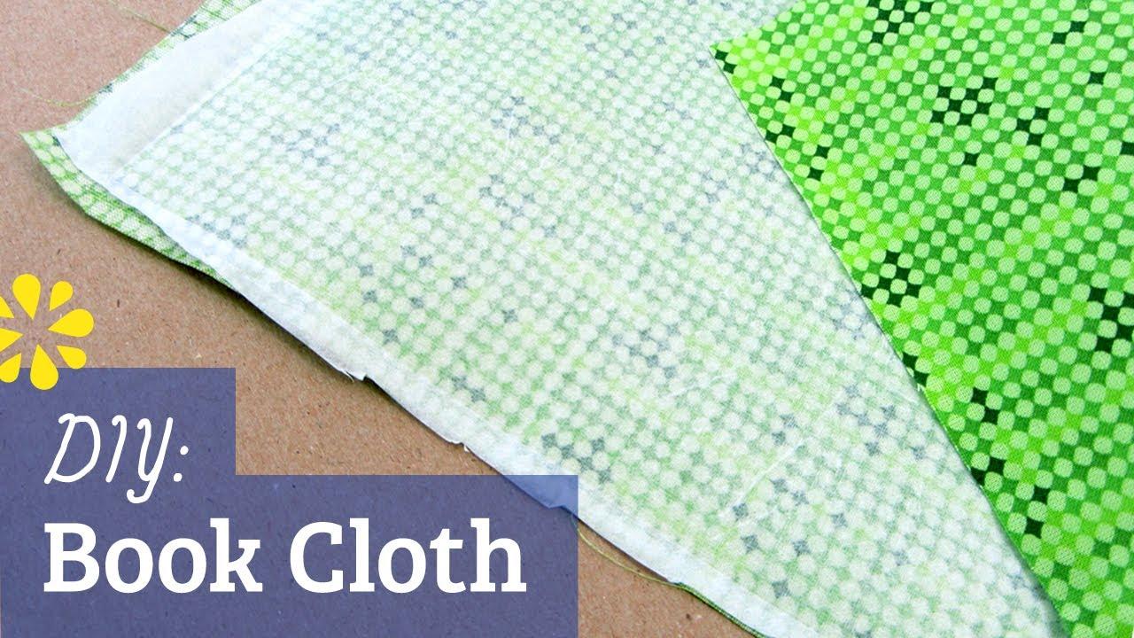 Is A Cloth Book A Hardcover Book ~ Diy book cloth for bookbinding sea lemon youtube