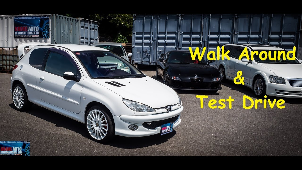 2003 Peugeot 206 RC | Japan Car Auction Purchase - YouTube
