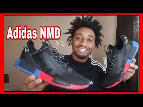 Unboxing Adidas Nmd R1 V2 Black Red Blue White Review Youtube