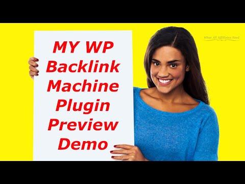 WP Backlink Machine Plugin Preview Demo - Backlink Machine Plugin Review Training Awesome Bonuses