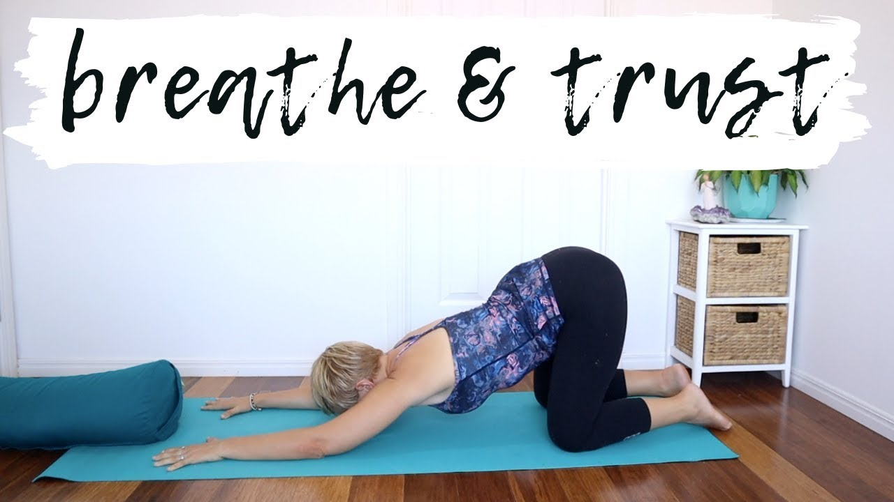 1st Trimester Pregnancy Yoga for Anxiety - YouTube