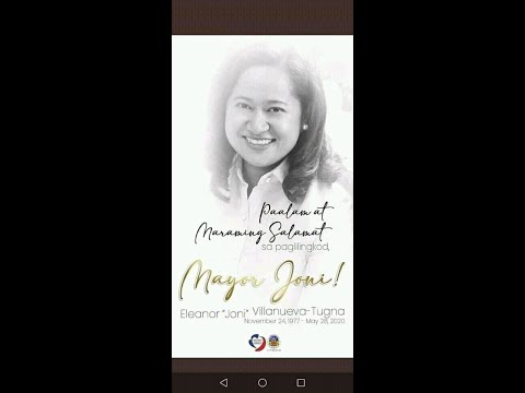 Tribute to Mayor Joni Villanueva Tugna