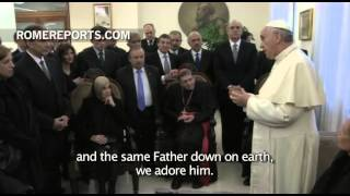 Pope Francis to Jewish, Muslim and Catholic group: We have the same Father