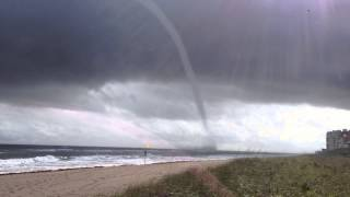 Juno Beach Waterspout - January 9 2015