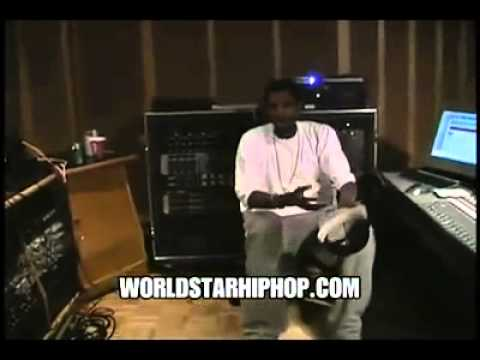 Throwback Documentary Footage  Young Kanye West Freestyles   Impresses JayZ In The Studio
