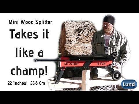 Splitting BIG Hardwood with a 5 Ton Electric Hydraulic Wood Log Splitter