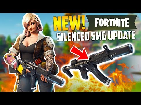 FORTNITE NEW SILENCED SMG!! (Fortnite Battle Royale)