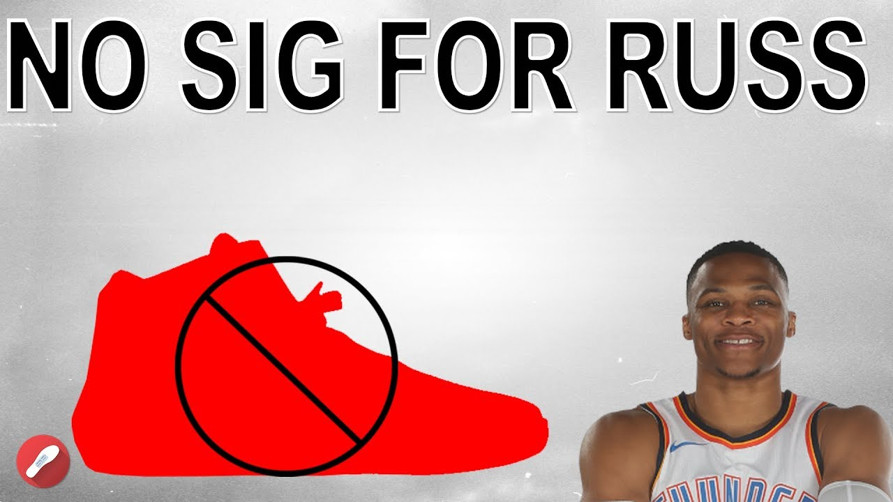 ab8bea184c8 Russell Westbrook Is NOT Getting a Signature Shoe!! - YouTube