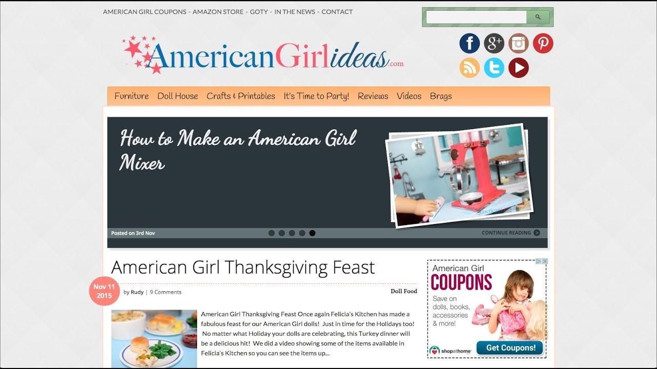 American Girl Ideas Doll Blog Youtube