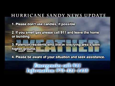 Paterson NJ, Hurricane Sandy Safety Tips from PFD