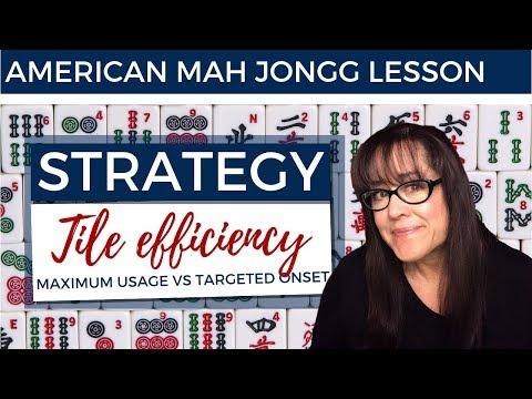 American Mah Jongg Lesson Strategy Tile Efficiency/Optimization (mock Card)