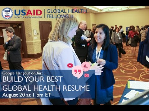 Build Your Best Global Health Resume - Live Resume Review