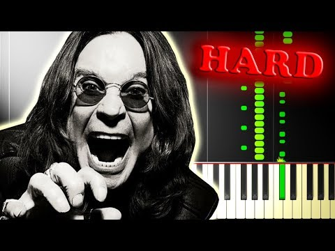 OZZY OSBOURNE  CRAZY TRAIN  Piano Tutorial with FULL GUITAR SOLO!