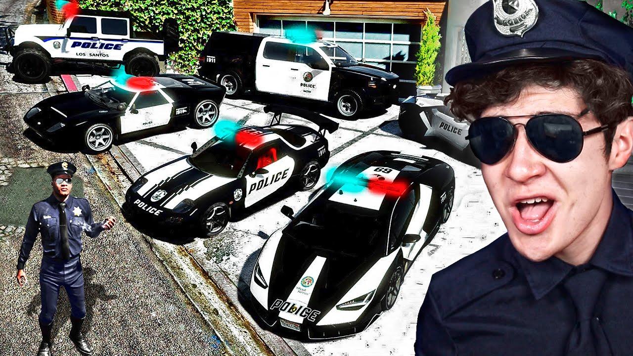 ROBANDO COCHES de POLICÍA MILLONARIOS en GTA 5! (Mods)