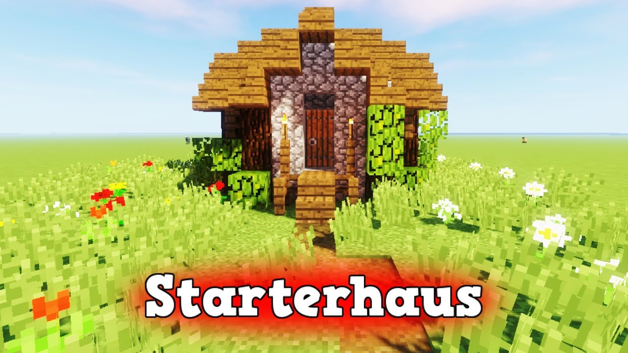 wie baut man ein kleines starter haus in minecraft minecraft haus bauen deutsch tutorial youtube. Black Bedroom Furniture Sets. Home Design Ideas
