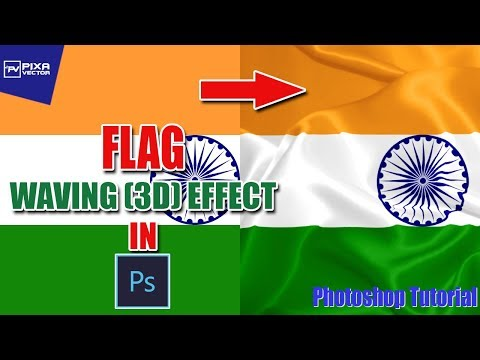 How to design Waving Flag or 3D flag in Photoshop | Photoshop Tutorial | PixaVector thumbnail