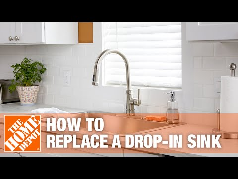 how-to-replace-a-drop-in-kitchen-sink-|-the-home-depot