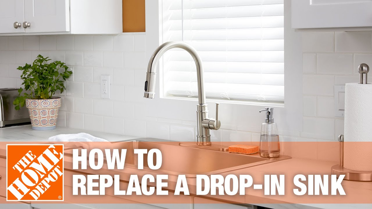How To Replace A Drop In Kitchen Sink The Home Depot Youtube